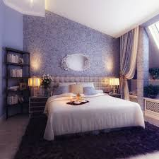 Luxury Bedroom Ceiling Design White Table Lamp On Bedside Dark by Grey Bedroom Wall With Floral Paint Combined By Dark Brown Wooden