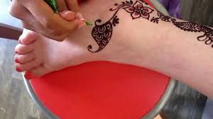 by henna design for the ankle