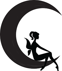 free clipart of a black and white silhouetted sitting