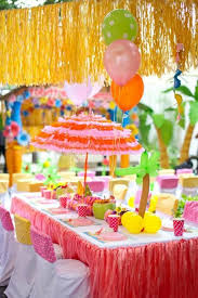 beautiful table decoration for a kids birthday party decoration in