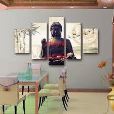 aliexpress com buy 5 piece unframed buddha modern paintings home
