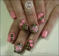 animal print fake nails pink blue sbbb info