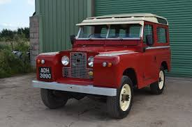 red land rover land rover series 2a 1969 example poppy red station wagon adh