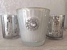 mercury tea light holders embellished vintage mercury tea light holders candle votive wedding