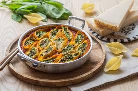 cuisine epinard conchiglioni farcis aux epinards ricotta grana padano cuisine