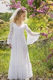 vintage communion dresses boho chic flower girl dresses 2017 vintage sleeves junior
