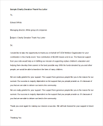 thank you letter example 9 samples in pdf word