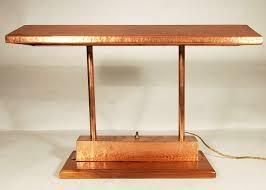 Traditional Bankers Desk Lamp Vintage Craftsman Style Polished Copper Fluorescent Desk Lamp For