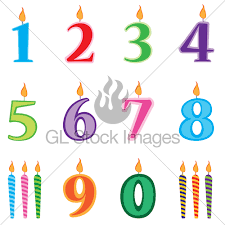 number birthday candles birthday candles numbers set candles numbers gl stock images