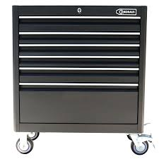Cabinet Tools Shop Kobalt 40 In X 35 In 6 Drawer Ball Bearing Steel Tool Cabinet