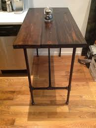 Handmade Kitchen Table by Reclaimed Wood Kitchen Table With Black Pipe Legs Ponce Kitchen