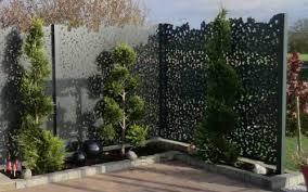 par vue de jardin pare vue metal brise vue pvc tresse exoteck