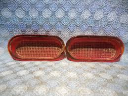 1940 chevrolet pair of nors tail light lamp lens glass lynx eye