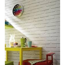 Briques Parement Interieur Blanc Accueil Design Et Mobilier Papier Peint Papier Brique Loft Blanc Leroy Merlin