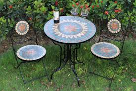 Mosaic Bistro Table Classic Outdoor Mosaic Bistro Table And Chairs Set Wholesale Yiwu