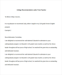 teacher recommendation letter how to write a recommendation