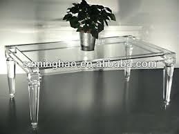 tisch fã r wohnzimmer acryl tische akryl deko wasserfall design tisch wohnzimmer