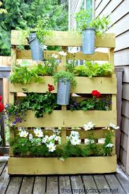diy recycled pallet vertical garden wall photograph garden ideas