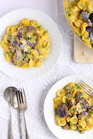 healthy vegetarian pasta with butternut squash sauce