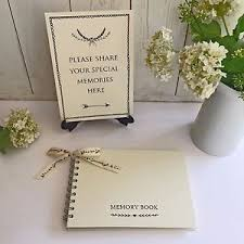 funeral sign in book a5 ivory memory book your memories sign set funeral