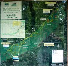 Ocala National Forest Map Santos Trails Florida Hikes