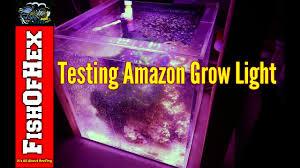 best led refugium light testing amazon led grow light over refugium with par readings youtube