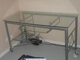 bureau ordinateur en verre bureau en verre pour pc occasion