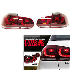 vw led tail lights vw golf mk6 r20 09 12 dark red r line led rear tail lights ls set