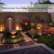 solar torch lights balight dancing flame lighting 96 led