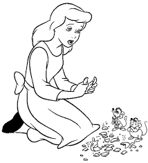 sad cinderella coloring pages for kids cartoon coloring pages of
