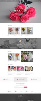 flower store byhands flower store psd template by tiva theme themeforest