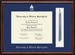 of illinois diploma frame of illinois springfield tassel edition diploma frame in