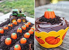 pumpkin patch dirt cake crushed chocolate cookies and