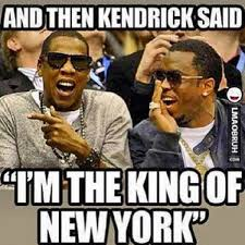 New York Meme - diddy clowns kendrick lamar with king of new york meme photo