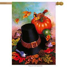 thanksgiving pilgrim flag ebay