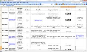 Applications Of Spreadsheet Organize Your Internship Applications With A Spreadsheet Hackcollege