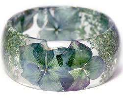 blue bracelet images Crystal blue flower resin bracelet jpg