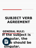 20 rules subject verb agreement with examples grammatical number