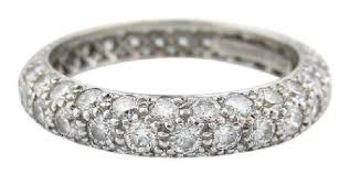platinum pave rings images Tiffany co platinum etoile three 3 row pave diamond band pt950 jpg