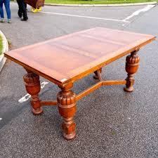 antique draw leaf table edwardian oak extendable drawer leaf table tables dining