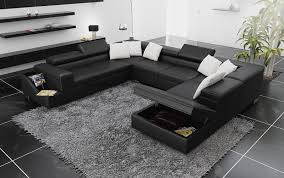 canapé panoramique canapé panoramique cuir palermo canapé avec rangement 7 places