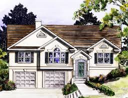 stylish split level home plan 3694dk narrow lot 1st floor loversiq