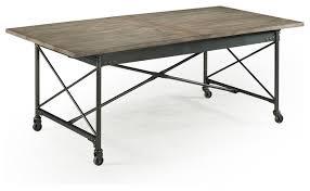 Industrial Dining Table Magnussen Walton Rectangular Dining Table Natural Distressing