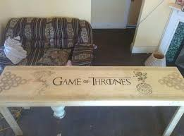 themed coffee table of thrones coffee table this fan built the ultimate of