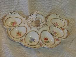 egg plates vintage egg plates superb vintage porcelain 6 egg plate