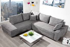 federkern sofa design ecksofa apartment strukturstoff graphit federkern sofa