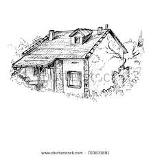 old barn drawing stock vector 576900970 shutterstock