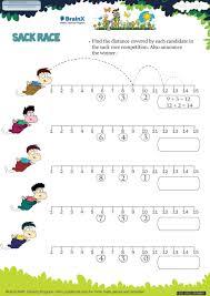 sack race math worksheet for grade 1 free u0026 printable worksheets