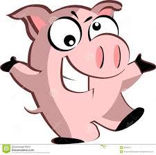 cartoon pig stock vector image 50634011
