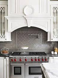 Subway Tiles For Kitchen Backsplash Grey Herringbone Subway Tile Backsplash Works With The Stainless